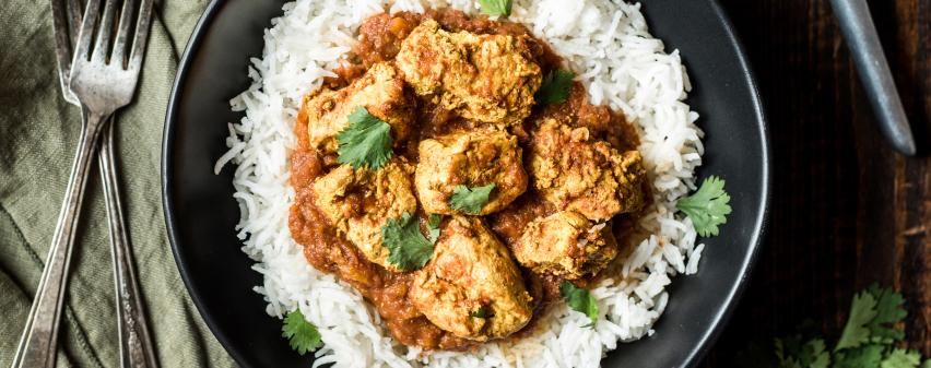 Chicken Tika Masala mit Reis