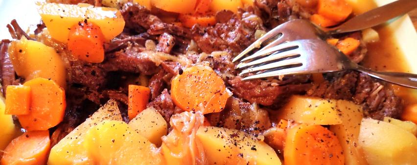 Rinderbraten One-Pot mit Karotten und Kartoffeln aus dem Multikocher