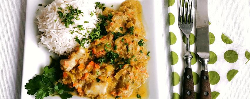 fisch-Curry aus dem Multikocher