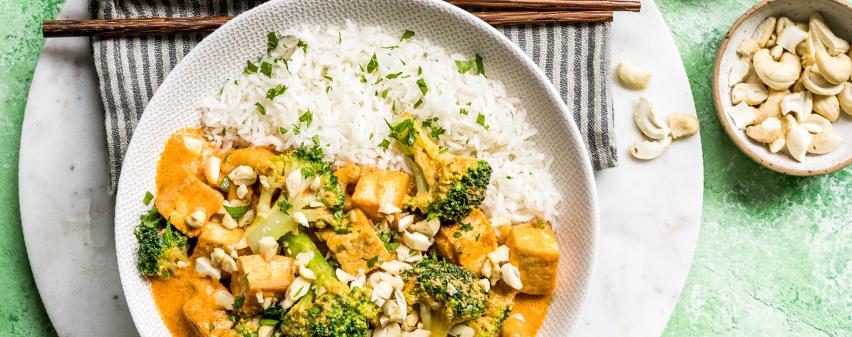 Tofu Curry mit Reis aus dem MeinHans Multikocher