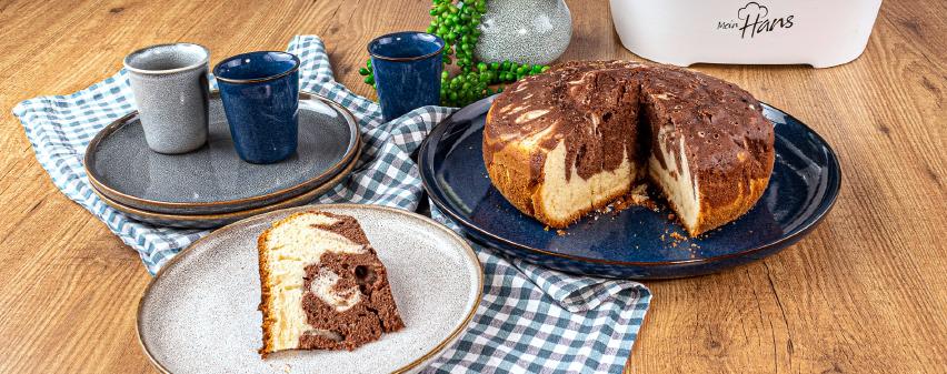 Marmorkuchen aus dem Multikocher bereichert die Kaffeetafel