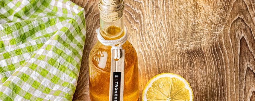 Zitronen-Minze-Sirup selbstgemacht